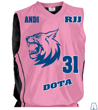 Rjj 31 Blue Dota And1 And1 Women S 2 Color Reversible Basketball Jersey