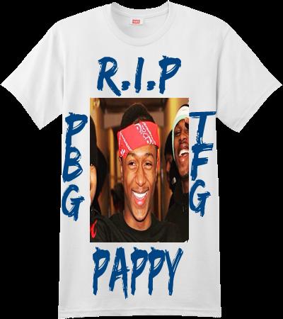 5c5aaf87a R.I.P PAPPY P B G T F G - Custom Screen Printed Hanes T-Shirt - 4980 -  49802043 - Custom Heat Pressed S 64f6d9f317d120720166579602A