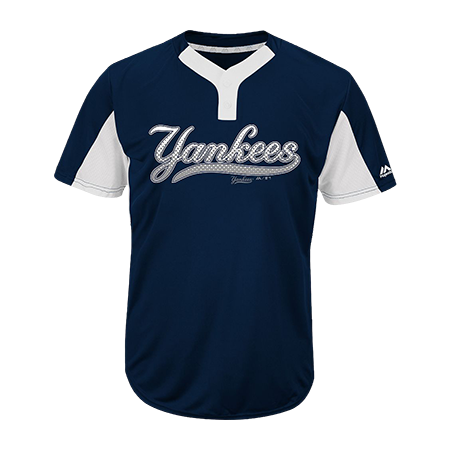 Player Name 00 Youth Yankees Two Button Jersey Yankees