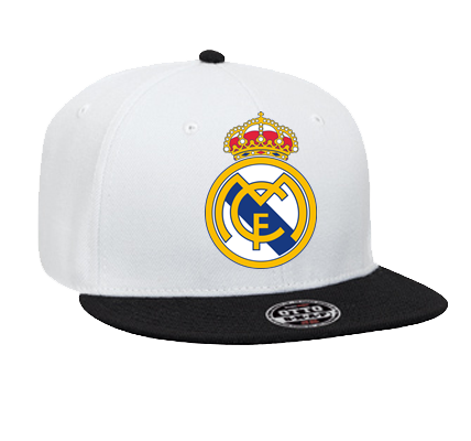 Real Madrid - Custom Heat Pressed Snapback Flat Bill Hat - 125-978 -  125-9782037 - CustomPlanet.com c740fb3eb67