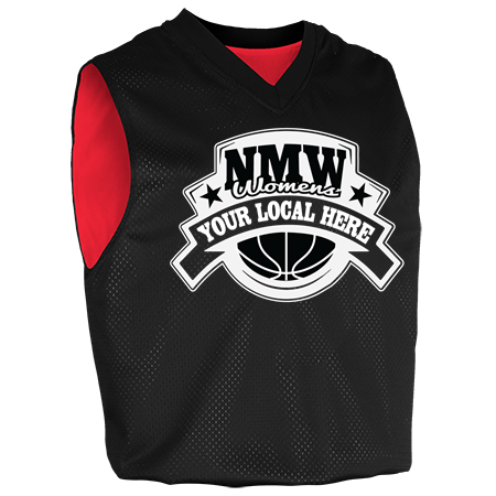dd30cd007 BLACK - Custom Heat Pressed Girls Fadeaway Reversible Basketball Jersey -  1401 - 14012033 fc8428e508b1982016181039812
