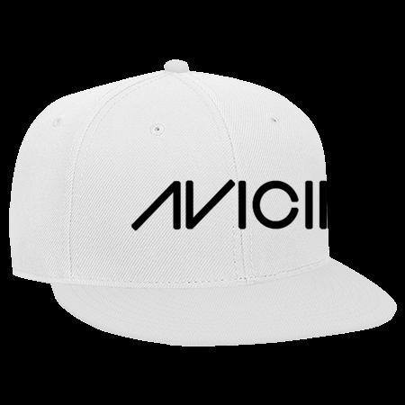 cd50f3dfd Avicii white - Snapback Flat Bill Hat - 125-978 - 125-9782031 - Custom Heat  Pressed