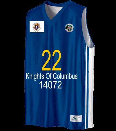 22 KNIGHTS OF COLUMBUS 14072 - Youth Basketball Jerseys   Uniforms  Reversible - 756 - 7562032 - Custom Heat Pressed Youth Small  e98e948a726011920126310637A b96c2f9ca69