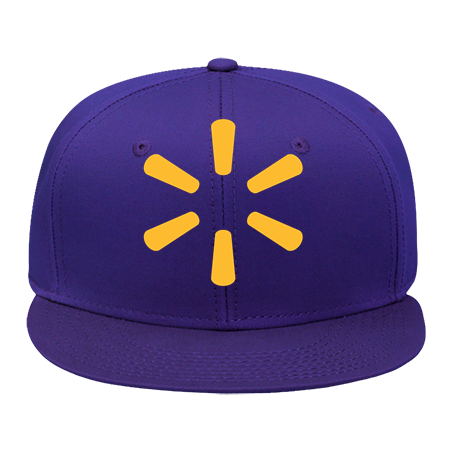 Walmart Hat - Snap Back Flat Bill Hat - 125-1038 - 125-10382033 - Custom  Heat Pressed 744fac6e95a0117201511449865 d04e2fdb459