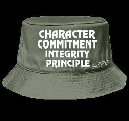 5db426097 CHARACTER COMMITMENT INTEGRITY PRINCIPLE - Bucket Hat Otto Cap 16-096 -  16-0962042 - Custom Heat Pressed