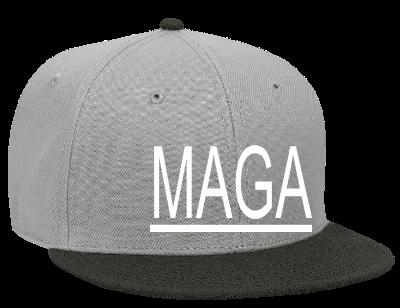 MAGA - Snapback Flat Bill Hat - 125-978 - 125-9782032 - Custom Heat Pressed  ab3533c8cb511362013650653 72d839f1e94