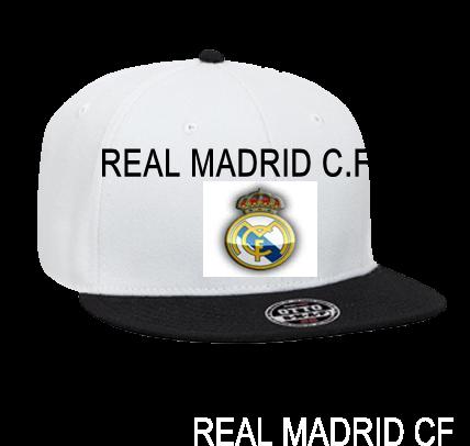 REAL MADRID C.F - Custom Heat Pressed Snapback Flat Bill Hat - 125-978 -  125-9782017 ff8a9d6e5b3c142012183128956 b605efa2da4
