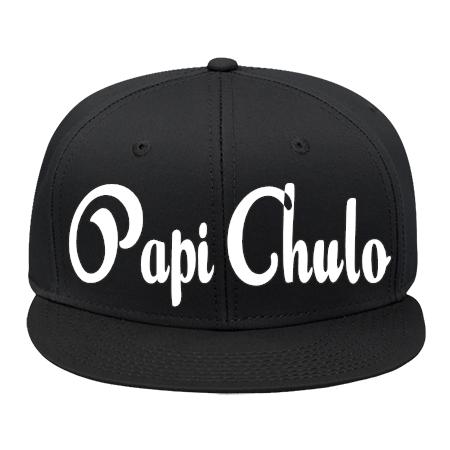 51d89cf6be9 PAPI CHULO - Snap Back Flat Bill Hat - 125-1038 - 125-10382052 - Custom  Embroidered 390251e2d3733062016224645702