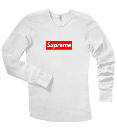 8080eb9166ce Supreme - Long Sleeve Thermal Tee - DT118 - DT1182035 - Custom Heat Pressed  47c3ecb8329c910201693515231