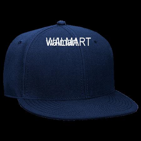 a14a561b97b88 WAL-MART WALMART - Snapback Flat Bill Hat - 125-978 - 125-9782048 - Custom  Heat Pressed 2d7982c718bc2862014191017991
