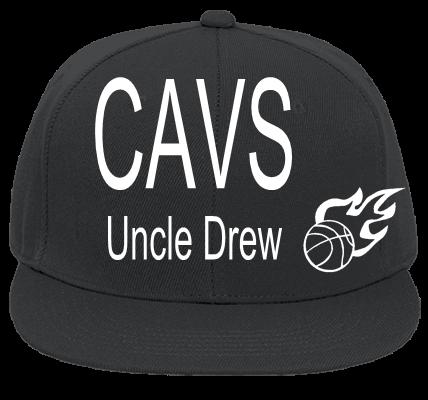 CAVS UNCLE DREW - Flat Bill Fitted Hats 123-969 - 123-9692044 - Custom Heat  Pressed 43c1d2694f5f20102014201529218 e1546ddf0ee