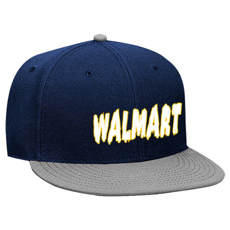 WALMART - Snapback Flat Bill Hat - 125-978 - 125-9782045 - Custom  Embroidered e08eb259fca02742014183548 96195ea3d99