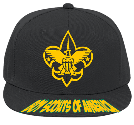 BOY SCOUTS OF AMERICA BSA - Flat Bill Fitted Hats 123-969 - 123-9692031 -  Custom Heat Pressed fc93682f3df81092012192259783 7788d16c2c1