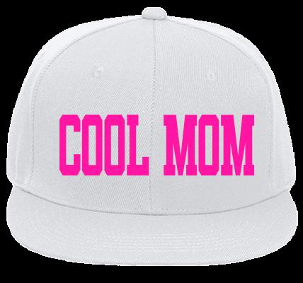 COOL MOM - Flat Bill Fitted Hats 123-969 - 123-9692042 - Custom Heat  Pressed c79382a448722062016152110912 fa3e773a375