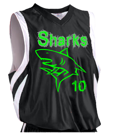 Fishers Sharks Reversible Basketball Jersey Adult Downtown