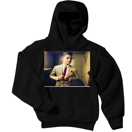 luis coronel youth pullover hooded sweatshirt pc90yh