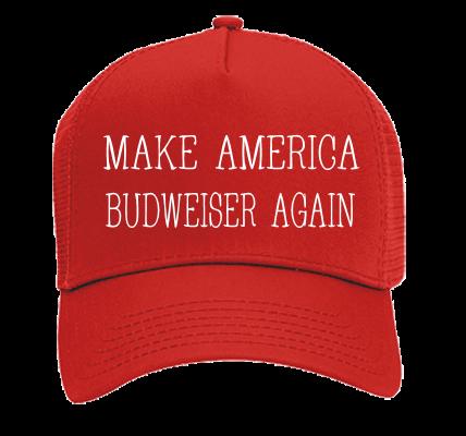 30fd57c9669f9 MAKE AMERICA BUDWEISER AGAIN BUDWEISER AGAIN - Otto Trucker Hat 32-510 -  32-5102041 - Custom Heat Pressed 870c7a4b194e1962016161619628