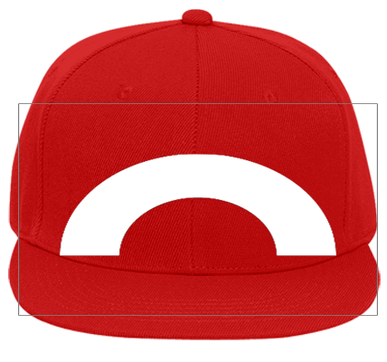Pokemon Trainer Red Hat Flat Bill Fitted Hats 123 969