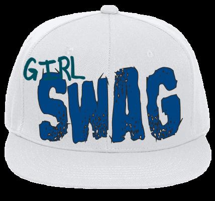 Girl Swag - Flat Bill Fitted Hats 123-969 - 123-9692045 - Custom Heat  Pressed f65ebd72afcb2762012162539700 fca9778d008