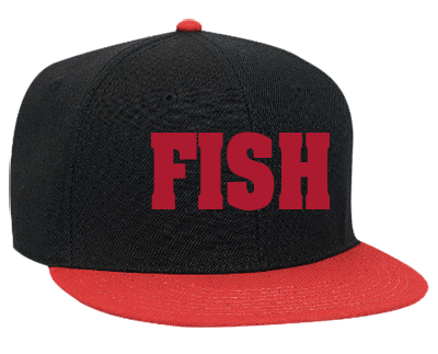 Fish fish snapback flat bill hat 125 978 125 9782037 for Fishing snapback hats