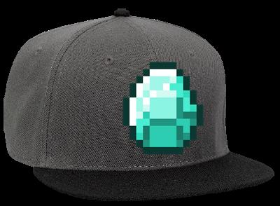 Diamond Minecraft Snapback Flat Bill Hat 125 978 125