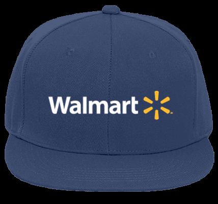c5d96bfc47c56 Walmart - Flat Bill Fitted Hats 123-969 - 123-9692054 - Custom Embroidered  f917d315bc1130920151817201