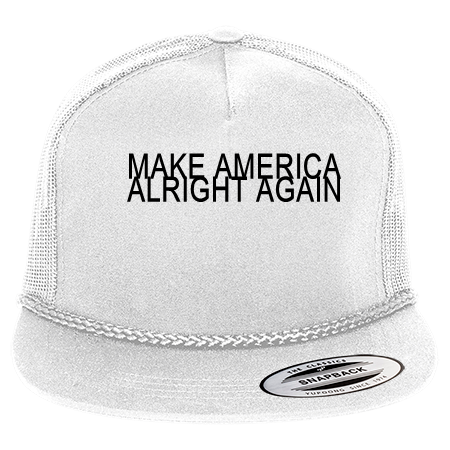 MAKE AMERICA ALRIGHT AGAIN - Classic Poplin Golf Mesh Trucker Hat - 6003 -  60032056 - Custom Heat Pressed 90680dc07a7c301120151236179 70d8fb4e23aa