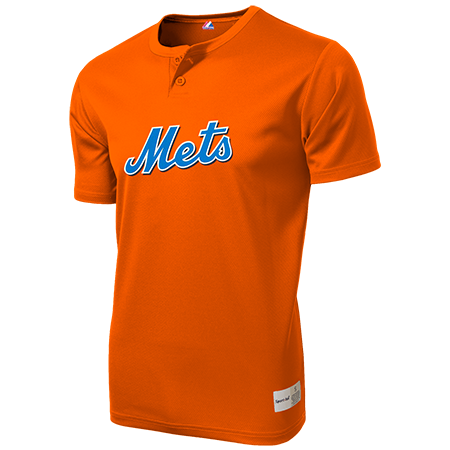 new concept 72216 602e4 7 - Custom Heat Pressed Mets Youth 2-Button MLB Jersey - MLB181 -  Mets-1812049 Youth Small