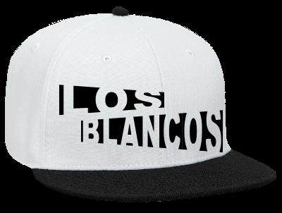 9ac91318 LOS BLANCOS - Snapback Flat Bill Hat - 125-978 - 125-9782050 - Custom Heat  Pressed be27dfc6d8323172012103051971
