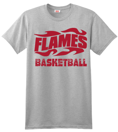 Flames Basketball T Shirt Design