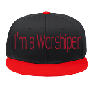 I'm a Worshiper - Custom Screen Printed Snap Back Flat Bill Hat - 125-1038 BFF69DF33172
