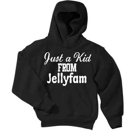 just a kid from jellyfam youth pullover hooded