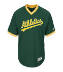 7 Custom Athletics Two-Button Jersey - Athletics-MAI383