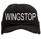 WINGSTOP - Custom Heat Pressed Visor Beanie Otto Cap 90-647 73F91AB6410E