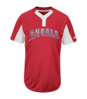 WATERS III-1 - Custom Heat Pressed Youth Angels Two-Button Jersey - Angels-MAIY83 DE0096F1D845
