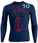 La Verne-10 - Custom Heat Pressed Youth Stretch Tight Long Sleeve Jersey - Teamwork Athletic - 1812 2F8568902C13