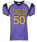EAGLES-50-50-50-50-50-50-50-CAM - Custom Embroidered Youth Red Zone Steelmesh Football Jersey - 1365 E128ABAF5672