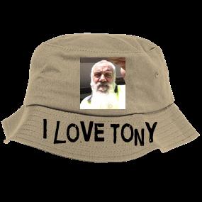 9f8e3622a00 I love Tony-No. 1 Stone Thrower - Bucket Hat - 2050 - Custom Heat Pressed -  CustomPlanet.com