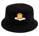 gudetama bucket hat - Custom Heat Pressed Short Brim Custom Bucket Hats - 961 6F69914F0301