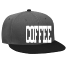 COFFEE - Custom Heat Pressed Snapback Flat Bill Hat - 125-978 12CAF314515D