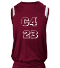 C4-23-Montoya-23 - Custom Screen Printed Adult V-Neck Custom Basketball Jerseys - N2340 AEDE46789460