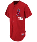 60 - Custom Heat Pressed Angels Full Button Baseball Jersey  - Adult - M6840 BCCEF951E31E