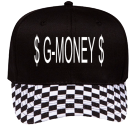 $ G-MONEY $ - Custom Heat Pressed Pro Style Pre Printed Otto Cap 56-082 BC5341DEF8A6