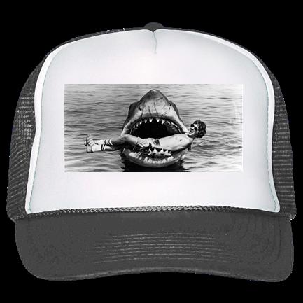 f6cb45b6c jaws - Custom Heat Pressed Trucker Hat 39-169