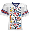 Fantasy Football-00 - Custom Heat Pressed YouthTeam Football Jersey - Teamwork Athletic -1314 D82705FCBAB1