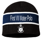 First VII Water Polo - Custom Heat Pressed Striped Beanie - SP06 003FE4F89BA2