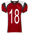 Knights Alternate Jersey-18 - Custom Heat Pressed Youth Red Zone Steelmesh Football Jersey - 1365 452EACFE0DF4