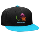 adaptation - Custom Heat Pressed Snapback Flat Bill Hat - 125-978 04121FE244C8