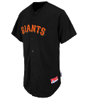 50 Giants Official MLB Full Button Youth Jersey - MAHD684Y