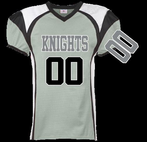knights gray and black - Custom Heat Pressed Adult Red Zone Steelmesh Football  Jersey 1355 FA437C3ECD6D db0243d80
